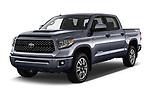 2018 Toyota Tundra TRD Sport Crew Cab 4 Door Pick Up angular front stock photos of front three quarter view