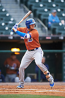 Durham Bulls third baseman Jake Hager (5) at bat during a game against the Buffalo Bisons on June 13, 2016 at Coca-Cola Field in Buffalo, New York.  Durham defeated Buffalo 5-0.  (Mike Janes/Four Seam Images)