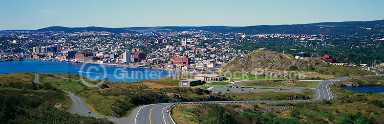 St. John's, Newfoundland and Labrador, Canada - Overlooking the City and Harbour from Signal Hill - Panoramic View