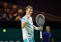 Februari 13, 2015, Netherlands, Rotterdam, Ahoy, ABN AMRO World Tennis Tournament, Tomas Berdych (CZE)<br /> Photo: Tennisimages/Henk Koster