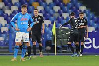 Nedim Bajrami of Empoli FC celebrates with team mates after scoring a goal during the Italy Cup football match between SSC Napoli and Empoli FC at stadio Diego Armando Maradona in Napoli (Italy), January 13, 2021. <br /> Photo Cesare Purini / Insidefoto