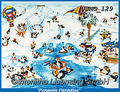 Steven-Michael, REALISTIC ANIMALS, REALISTISCHE TIERE, ANIMALES REALISTICOS, paintings+++++,USMG129,#a#, EVERYDAY,penguins ,puzzle,puzzles