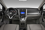 Straight dashboard view of a 2008 Honda CRV.