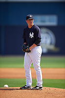 New York Yankees pitcher Taylor Widener (23) gets ready to deliver a pitch during a minor league Spring Training game against the Detroit Tigers on March 22, 2017 at the Yankees Complex in Tampa, Florida.  (Mike Janes/Four Seam Images)