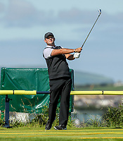 140719 | The 148th Open - Sunday Practice<br /> <br /> Patrick Reid tees off at the Par 3 3rd during practice for the 148th Open Championship at Royal Portrush Golf Club, County Antrim, Northern Ireland. Photo by John Dickson - DICKSONDIGITAL