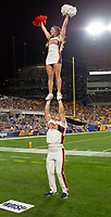 Virginia Cavalier cheerleaders. The Virginia Cavaliers defeated the Pitt Panthers 30-14 in a football game at Heinz Field, Pittsburgh, Pennsylvania on August 31, 2019.