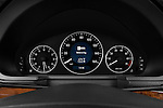 Instrument panel close up detail view of a 2009 Mercedes E Class Wagen 350
