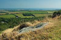Mounts Bay and St Michael's Mount from Trencrom Hill near Lelant Downs, Cornwall