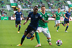 19.09.2020, wohninvest Weserstadion, Bremen, GER,  SV Werder Bremen vs Hertha BSC Berlin, <br /> <br /> <br />  im Bild<br /> <br /> Mathew Leckie (Hertha BSC #11)<br /> Marco Friedl (Werder Bremen #32)<br /> <br /> Foto © nordphoto / Kokenge<br /> <br /> DFL regulations prohibit any use of photographs as image sequences and/or quasi-video.