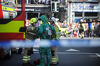 Pictured: Saturday 17 September 2016<br /> Re: Roald Dahl's City of the Unexpected has transformed Cardiff City Centre into a landmark celebration of Wales' foremost storyteller, Roald Dahl, in the year which celebrates his centenary.<br /> Emergency services got involved, staging a rescue at the start of the events.