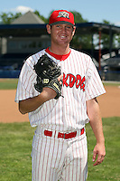 June 30th, 2007:  Ryan Riddle of the Batavia Muckdogs, Short-Season Class-A affiliate of the St. Louis Cardinals at Dwyer Stadium in Batavia, NY.  Photo by:  Mike Janes/Four Seam Images