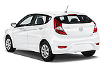 Car pictures of rear three quarter view of 2017 Hyundai Accent SE 6-Speed Automatic 5 Door Hatchback Angular Rear