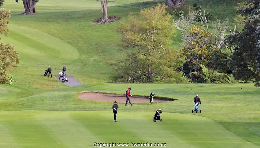 !st fairway during the Jennian Homes Charles Tour Taranaki Open, New Plymouth Golf Course, New Plymouth, Thursday 15 October 2020. Photo: John Velvin/www.bwmedia.co.nz