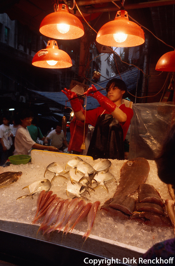 China, Hongkong, Nachtmarkt auf der Temple Street