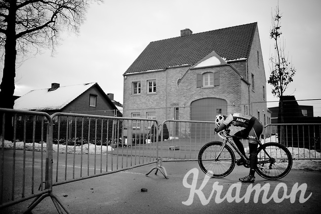 Sophie de Boer (NLD/Kalas-NNOF) is overtaken by emotion after the race, disappointed with her result.<br /> <br /> Azencross Loenhout 2014