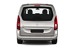 Straight rear view of 2021 Opel Combo-Life XL-Edition 5 Door Minivan Rear View  stock images
