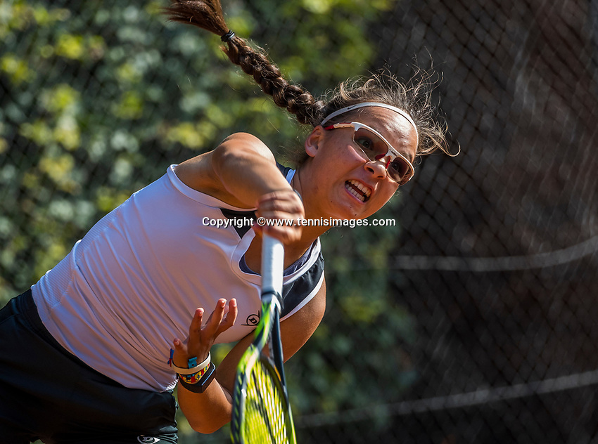 Hilversum, Netherlands, August 9, 2017, National Junior Championships, NJK, Cato Tangkau<br /> Photo: Tennisimages/Henk Koster