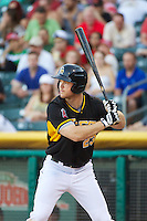 Brennan Boesch (23) of the Salt Lake Bees at bat against the Nashville Sounds in Pacific Coast League action at Smith's Ballpark on June 23, 2014 in Salt Lake City, Utah.  (Stephen Smith/Four Seam Images)