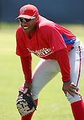 March 30, 2010:  First Baseman Jonathan Singleton of the Philadelphia Phillies organization during Spring Training at Bright House Field in Clearwater, FL.  Photo By Mike Janes/Four Seam Images