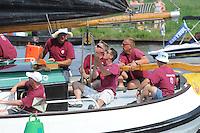 SKUTSJESILEN: EARNEWALD: 23-07-2013, SKS skûtsjesilen, Skûtsje Huizum (8e) met schipper Lodewijk Hzn Meeter, ©foto Martin de Jong