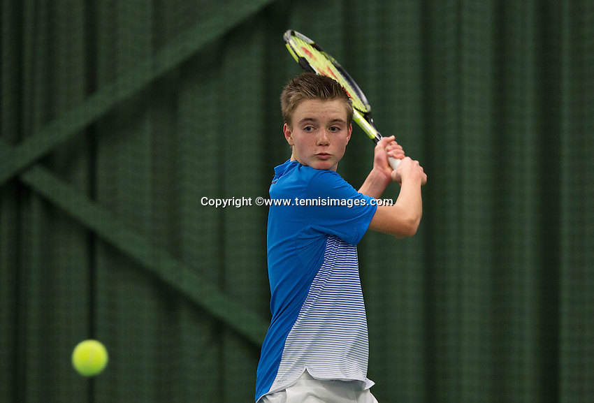 Rotterdam, The Netherlands, March 19, 2016,  TV Victoria, NOJK 14/18 years, Frank Jonker (NED)<br /> Photo: Tennisimages/Henk Koster