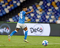 26th September 2021; Maradona Stadium, Naples, Italy; Serie A football, Napoli versus Cagliari :  Lorenzo Insigne of Napoli celebrates after scoring for 2- 0  from the penalty kick in 57th minute