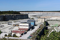 Steinbruch vom Zementwerk in Slite auf der Insel Gotland, Schweden, Europa<br /> quarry of cement works in Slite, Isle of Gotland Sweden