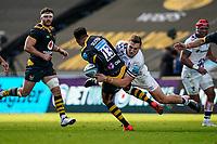 22nd November 2020; Ricoh Arena, Coventry, West Midlands, England; English Premiership Rugby, Wasps versus Bristol Bears; Sam Bedlow of Bristol tackles Juan de Jongh of Wasps