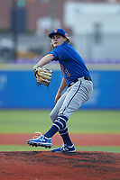 Ethan Salak playing for the New York Mets scout team during game four of the South Atlantic Border Battle at Truist Point on September 27, 2020 in High Pont, NC. (Brian Westerholt/Four Seam Images)