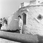 Beatles 1967 John Lennon films Magical Mystery Tour at Huer's Hut in Newquay Cornwall<br /> © Chris Walter