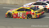 #18: Kyle Busch, Joe Gibbs Racing, Toyota Camry, #11: Denny Hamlin, Joe Gibbs Racing, Toyota Camry<br /> <br /> (MEDIA: EDITORIAL USE ONLY) (This image is from the iRacing computer game)