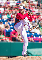 16 March 2014: Washington Nationals pitcher Michael Gonzalez on the mound during a Spring Training Game against the Detroit Tigers at Space Coast Stadium in Viera, Florida. The Tigers edged out the Nationals 2-1 in Grapefruit League play. Mandatory Credit: Ed Wolfstein Photo *** RAW (NEF) Image File Available ***