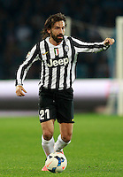 Calcio, Serie A: Napoli vs Juventus. Napoli, stadio San Paolo, 30 marzo 2014. <br /> Juventus midfielder Andrea Pirlo in action during the Italian Serie A football match between Napoli and Juventus at Naples' San Paolo stadium, 30 March 2014.<br /> UPDATE IMAGES PRESS/Isabella Bonotto