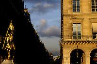 Joan of Arc statue on the Place des Pyramides, Paris, France.