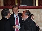 MAURO MORETTI CON PIERO FASSINO E GIORGIO ZAPPA<br /> CELEBRAZIONE DEI 60 ANNI DELLO STATO D'ISRAELE TEATRO DELL'OPERA ROMA 2008