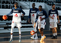 22nd February 2021, Podgorica, Montenegro; Eurobasket International Basketball qualification for the 2022 European Championships, England versus France;  Lahaou Konate of France, Axel Bouteille of France, Jerry Boutsiele of France, Yakuba Ouattara of France in warm up