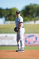 Glendale Desert Dogs relief pitcher Kyle Zurak (70), of the New York Yankees organization, gets ready to deliver a pitch during an Arizona Fall League game against the Surprise Saguaros at Surprise Stadium on November 13, 2018 in Surprise, Arizona. Surprise defeated Glendale 9-2. (Zachary Lucy/Four Seam Images)