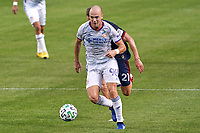 CHICAGO, UNITED STATES - AUGUST 25: Andrew Gutman #96 of FC Cincinnati battles with Fabian Herbers #21 of Chicago Fire during a game between FC Cincinnati and Chicago Fire at Soldier Field on August 25, 2020 in Chicago, Illinois.