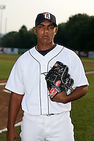 July 7th 2008:  Pitcher Lester Oliveros of the Oneonta Tigers, Class-A affiliate of Detroit Tigers, during a game at Damaschke Field in Oneonta, NY.  Photo by:  Mike Janes/Four Seam Images