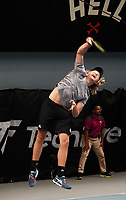 Men's Singles final - Ajeet Rai v Isaac Becroft (pictured). 2020 New Zealand Championships Wellington Tennis Open finals at Renouf Centre in Wellington, New Zealand on Sunday, 20 December 2020. Photo: Dave Lintott / lintottphoto.co.nz