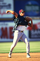 1997: Eric Chavez of the Visalia Oaks in action during the 1997 season in San Bernardino,CA.  Photo by Larry Goren/Four Seam Images
