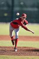 Cincinnati Reds pitcher Jake Paulson (39) during an Instructional League game against the Kansas City Royals on October 16, 2014 at Goodyear Training Complex in Goodyear, Arizona.  (Mike Janes/Four Seam Images)