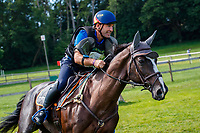 ESP-Carlos Diaz Fernandez rides Taraje CP 21.10  during the Cross Country for the CCIO4*-S. FRA-Le Grand Complet - Haras du Pin FEI Nations Cup Eventing. Le Pin au Haras. Normandie. France. Sunday 15 August 2021. Copyright Photo: Libby Law Photography