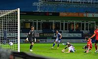 Blackburn Rovers' Sam Gallagher scores his side's first goal  <br /> <br /> Photographer David Horton/CameraSport<br /> <br /> The EFL Sky Bet Championship - Luton Town v Blackburn Rovers - Saturday 21st November 2020 - Kenilworth Road - Luton<br /> <br /> World Copyright © 2020 CameraSport. All rights reserved. 43 Linden Ave. Countesthorpe. Leicester. England. LE8 5PG - Tel: +44 (0) 116 277 4147 - admin@camerasport.com - www.camerasport.com