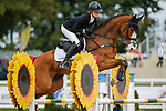 October 17, 2021: Caroline Martin (USA), aboard HSH Vamonos, competes during the Stadium Jumping Final at the 3* level during the Maryland Five-Star at the Fair Hill Special Event Zone in Fair Hill, Maryland on October 17, 2021. Jon Durr/Eclipse Sportswire/CSM
