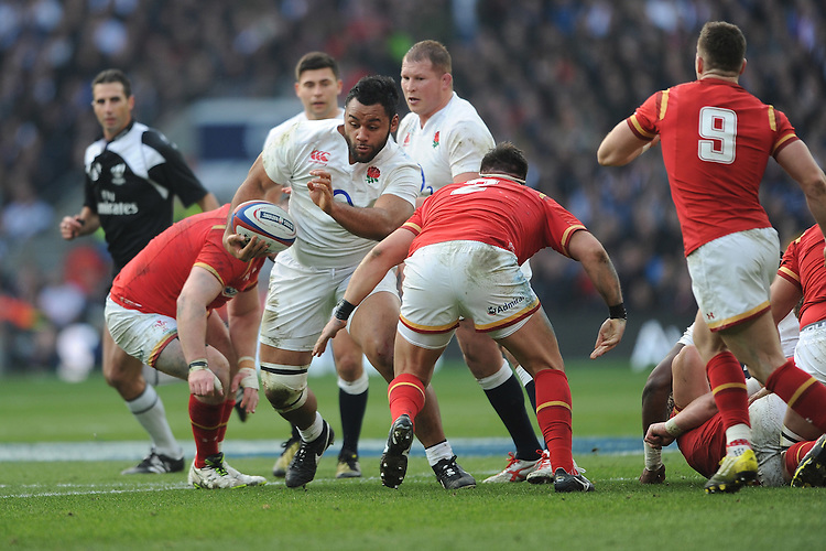 Billy Vunipola of England finds a small gap during the RBS 6 Nations match between England and Wales at Twickenham Stadium on Saturday 12th March 2016 (Photo: Rob Munro/Stewart Communications)