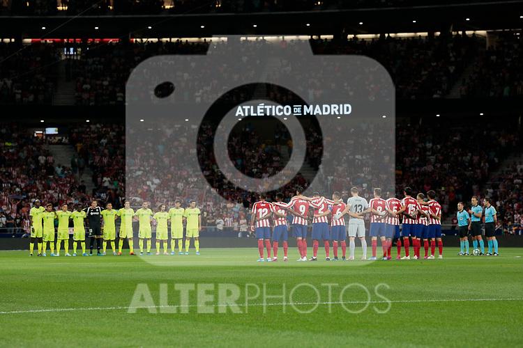 Atletico de Madrid's team photo during La Liga match between Atletico de Madrid and Getafe CF at Wanda Metropolitano Stadium in Madrid, Spain. August 18, 2019. (ALTERPHOTOS/A. Perez Meca)