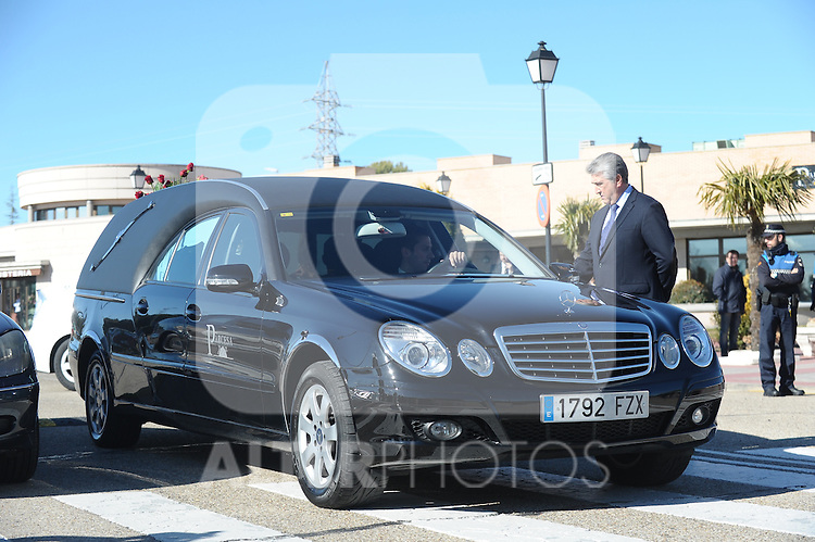 Funeral ceremony in memory of the national soccer team coach Luis Aragones. February 2, 2014. (ALTERPHOTOS/S.Lopez)