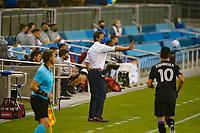 SAN JOSE, CA - SEPTEMBER 13: San Jose Earthquakes head coach Matias Almeyda during a game between Los Angeles Galaxy and San Jose Earthquakes at Earthquakes Stadium on September 13, 2020 in San Jose, California.