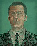 Illustration image of businessman made of currency symbols